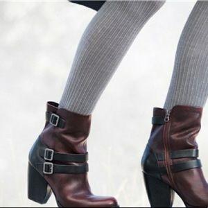 KORK EASE Anki Wine & Black Leather Boots